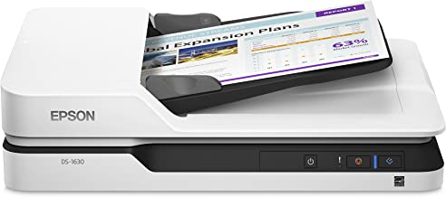 Epson DS-1630 Document Scanner: 25ppm, Twain & ISIS Drivers, 3-Year Warranty with..