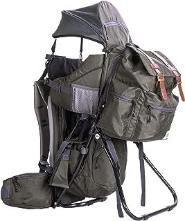 ClevrPlus Urban Explorer Hiking Baby Backpack Child Carrier, Olive Green