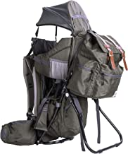 ClevrPlus Urban Explorer Hiking Baby Backpack Child Carrier  Green  Sunshade Bag