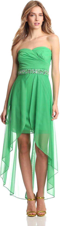 Hailey by Adrianna Papell Women's Bead-Waist High/Low Dress