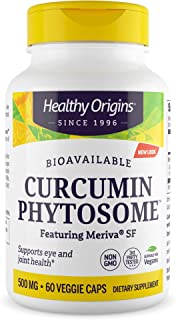 Healthy Origins Curcumin Phytosome (Featuring Meriva SF) 500 mg, 60 Veggie Caps