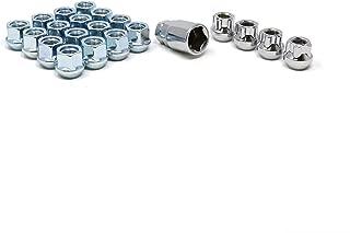 White Knight 791307-1SAM Chrome M12x1.50 Open End Bulge Acorn Lug Nut Kit with Wheel Locks, 20 Pack