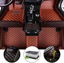 for 2011-2013 Nissan X-Trail Floor Mats Full Protection Car Accessories Brown 3 Piece Set