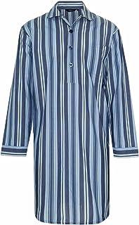 Mens Summer Nightshirt Poly Cotton Stripe