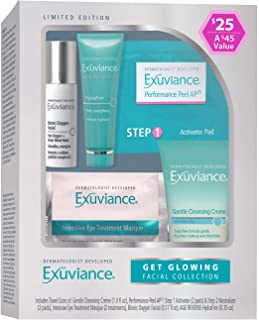 Exuviance Get Glowing Facial Collection : Gentle Cleansing Creme, Performance Peels AP25, Intensive Eye Treatment Masque, Bionic Oxygen Facial, Age Reverse HydraFirm