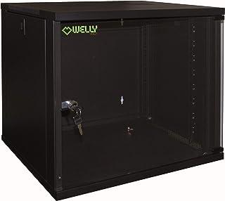 """Welly Enjoy WY40002Rack serveur Armoire réseau 19"""" 12 unités à montage mural - Profondeur 450mm - LxPxH: 540x450x580mm - ..."""