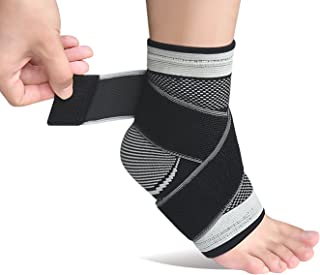 Plantar Fasciitis Sock with Arch Support, Eases Swelling, Achilles Tendon & Ankle Brace Sleeve with Compression Effective Joint Pain Foot Pain Relief from Heel Spurs -Single (Gray-Single)