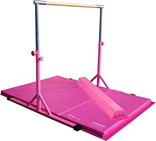 Z Athletic Adjustable Kip Bar, Gymnastics Mat, 4ft Attachable Beam Multiple Colors and Sizes