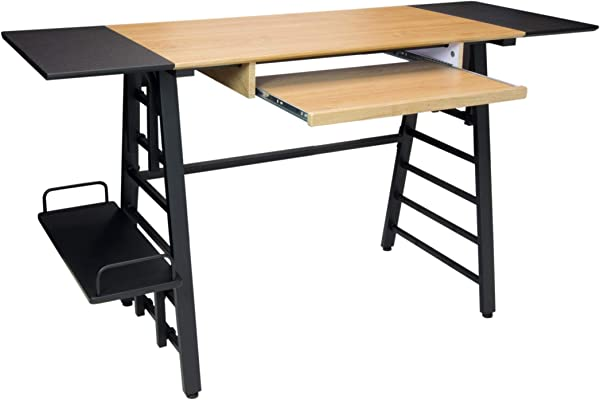 Calico Designs Convertible Art Drawing Computer Desk For Kids In Ashwood Graphite 51240