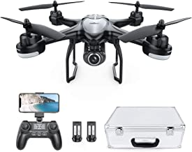 Drone with 1080P HD Camera, Potensic T18 GPS FPV RC Quadcopter with Adjustable Wide-Angle WiFi Camera, Auto Return Home, Altitude Hold, Follow Me, 2 Batteries and Aluminum Carrying Case