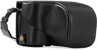 MegaGear MG406 Sony Alpha A6300 A6000 (16-50 mm) Estuche Ever Ready Funda de cuero de pronto uso con correa - Negro