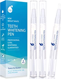 Teeth Whitening Pen - Removes Years of Stains Caused by Coffee, Wine, Smoking, Travel-Friendly - 3 Pens