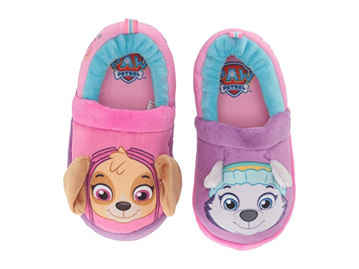 Image of Purple and Pink Paw Patrol House Shoes for Toddler Girls