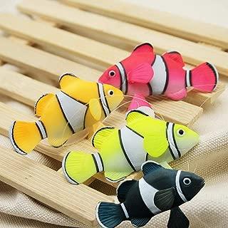 Bestgle Aquarium Decortion, Glowing Ornament Silicone Gloating Fake Fish for Fish Tank