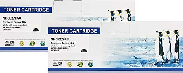 Search4Toner Compatible Replacement For Canon 126 3483B001AA 2PK Replaces Canon 126 3483B001AA Universal With HP CE278A Lower Cost Alternative To Canon Brand Overall Defect Rates Less Than 1