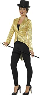 Smiffys Women's Sequin Tailcoat Jacket, Ladies