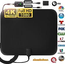 [LATEST 2020] Amplified HD Digital TV Antenna Long 120...