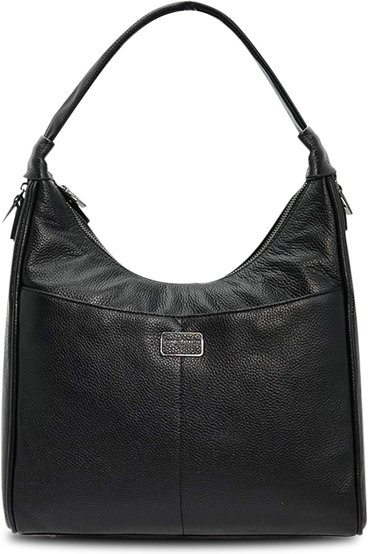 Giorgio Ferretti Comfortable Genuine Leather Hobo Bag Women Genuine Leather Hobo Handbag Black Colour