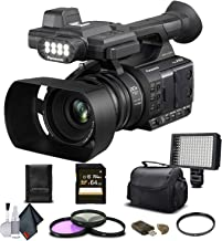 Panasonic AG-AC30 Full HD Camcorder (AG-AC30PJ) with 64GB Memory Card, LED Light, Case, Telephoto Lens, and More - Advance...