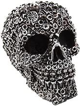 Ebros Junkyard Mechanic Gears Nuts Bolts and Screws Hardware Skull Decorative Figurine 6.25
