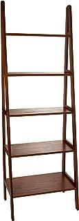 Casual Home 176-54 5-Shelf Ladder Bookcase, Warm Brown