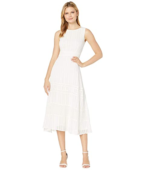 Taylor Sleeveless Embroidered Lace Midi Dress At 6pm