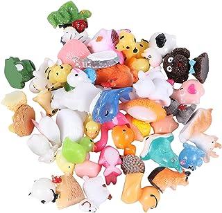 Bestonzon 50pcs Miniature Animal Mini Resin Decor Charms Resin Figurine Doll House Pretend Play Toys for DIY Fairy Garden ...