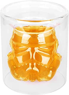 VI AI Double Wall Water Gl Whiskey Glass Cup Crystal Mug150ML