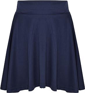 A2Z 4 Kids New Girls Skater Skirts School Fashion Summer Plain Skirt 5 6 7 8 9 10 11 12 13Y