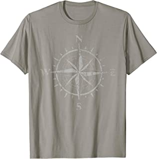 Compass Wandering Travel Nomad Vacation Sailing Gift T-Shirt