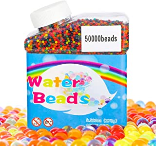 TBST Water Beads, 50,000 Pcs Colorful Water Crystal Beads for Children Non-Toxic, Gel Soil Water, Stress Relief Toys Cryst...