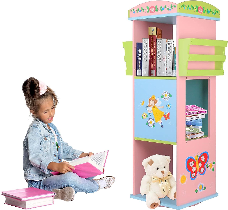 Rotating Bookshelf 360°for Kids Floor Rack Finally resale start To Storage Standing Outlet SALE