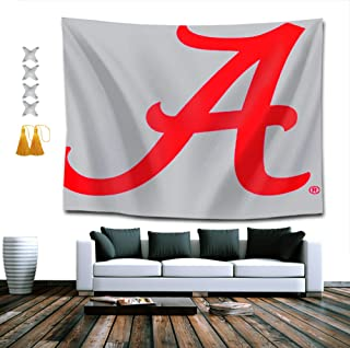 NiYoung Decor Tapestry for Living Room Dorm Bedroom, Crimson Alabama University Football Bama Tide Hippie Wall Hanging Tapestry Wall Decor 60 x 80 Inches