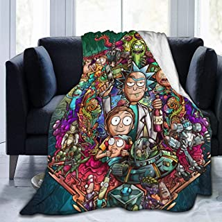 Rick&Morty Luxury Flannel Fleece Blanket Lightweight Super Soft Cozy Bed Blanket Sofa Blanket
