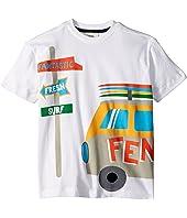 Fendi Kids - Short Sleeve Logo Surf Van Graphic T-Shirt (Toddler)