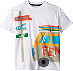 Fendi Kids - Short Sleeve Logo Surf Van Graphic T-Shirt (Toddler)