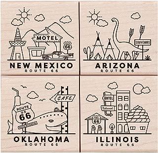 Hero Arts LP446 Woodblock Stamps, Route 66 Poetic Prints