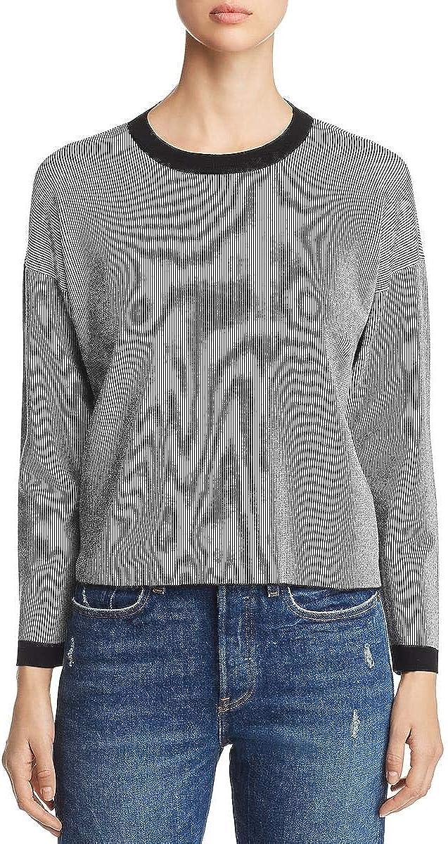 EILEEN FISHER Women's Sleek Tencel Striped Sweater Top