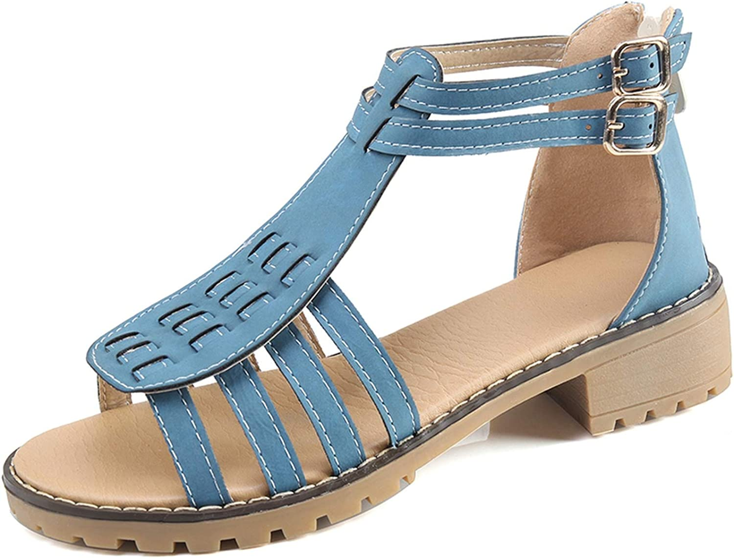 Rome Gladiator Summer Sandals Woman shoes Fashion Zip Up Casual shoes