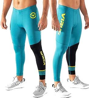 Mens RX8 Stay Cool Compression Pants - Bay Blue/Black
