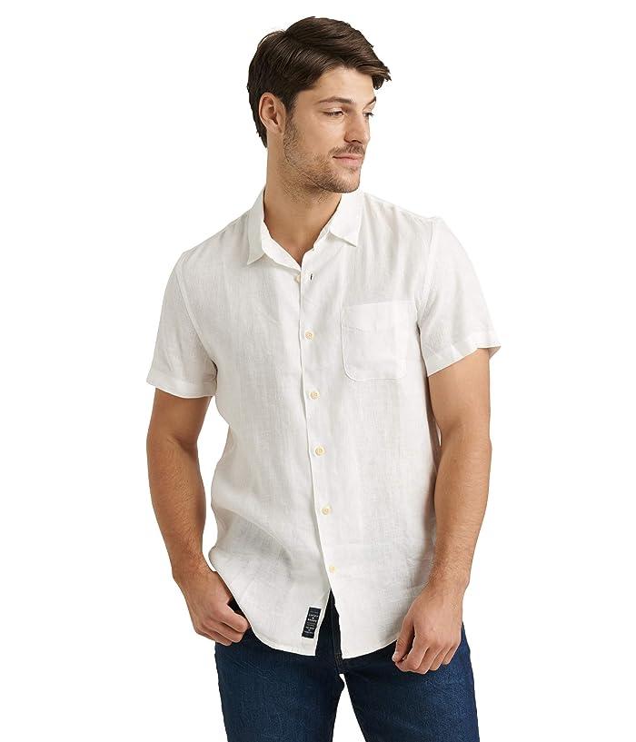 Lucky Brand  Short Sleeve San Gabriel Shirt (White) Mens Clothing