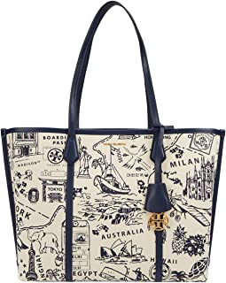Perry Printed Canvas Triple-Compartment Tote