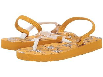 Roxy Kids Pebbles VI (Toddler) (Mustard) Girls Shoes