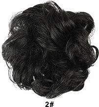 BARSDAR Messy Hair Bun Extensions Hairpiece for Women Updo Scrunchie Hair Piece (2# Darkest Brown Near Near Black)