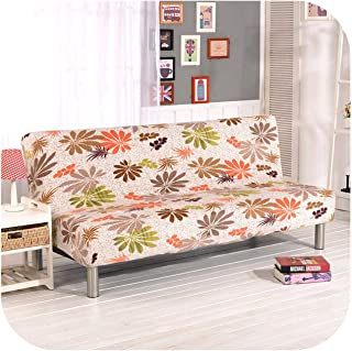 Asarahshop 1PC Plush Sofa Cover Wrap All Inclusive Slip Resistant Elastic Stretch Furniture Slipcovers No Armrest Folding Sofa Bed Cover,Color 4,D185 to 200cm