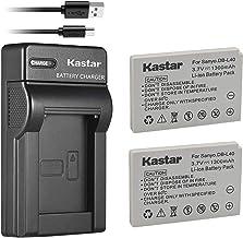 Kastar Battery (X2) & Slim USB Charger for Sanyo DB-L40, DB-L40AU and Sanyo Xacti DMX-HD1, DMX-HD1A, DMW-HD2, DMX-HD15, DM...