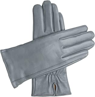 gray leather gloves ladies