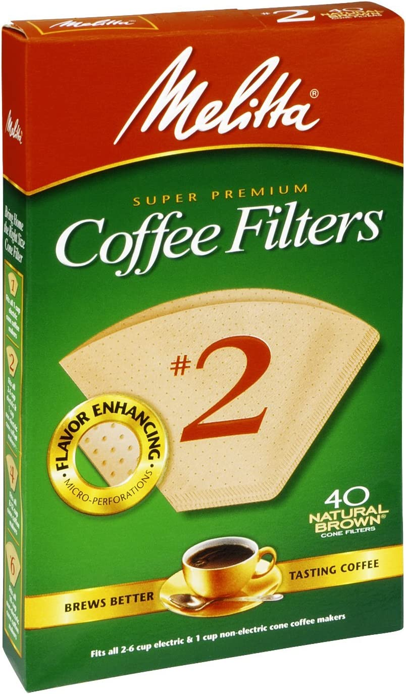 discount Melitta Max 76% OFF 612412 #2 Natural Brown Count 40 Cone Coffee Filters