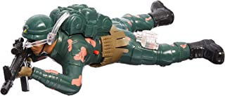 Crawling Army Corp Soldier Battery Operated Toy Action Figure w/ Realistic Crawling Action, Lights, Sounds (Colors May Vary)