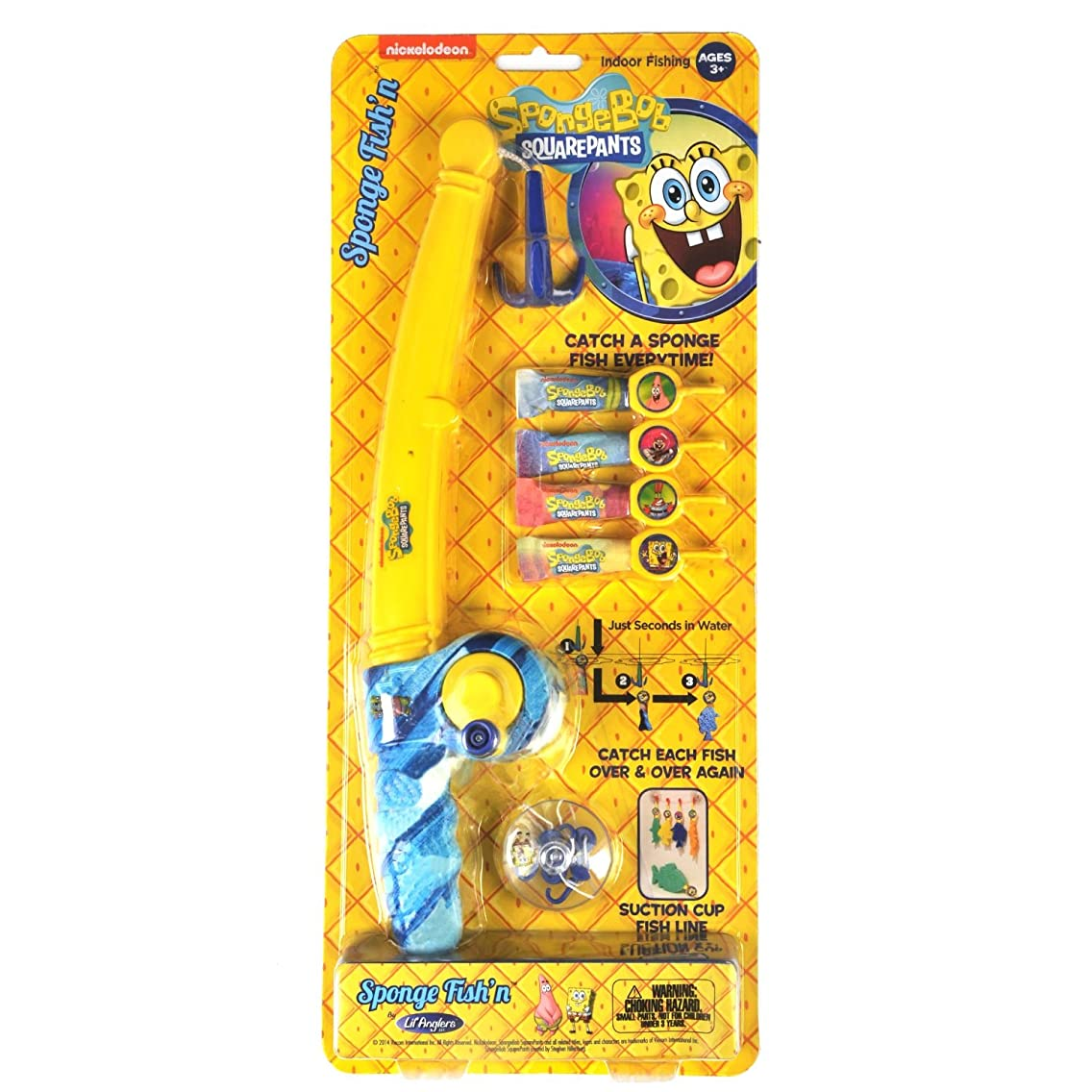 Kid Casters SpongeBob SquarePants Sponge Fish'n Indoor Toy Fishing Kit